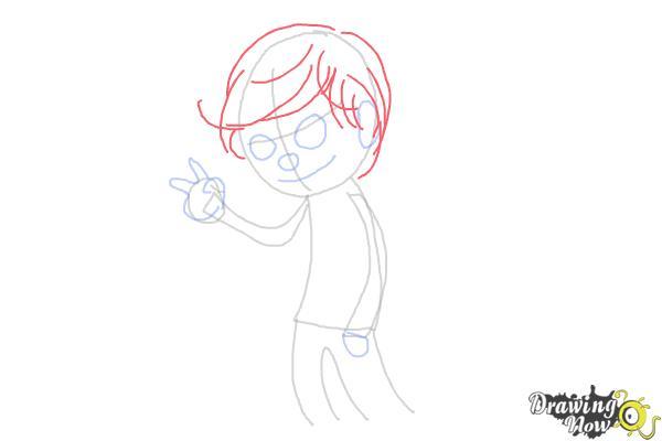 How to Draw Liam Payne Cartoon - Step 4