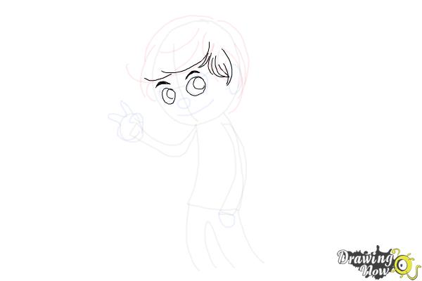 How to Draw Liam Payne Cartoon - Step 5