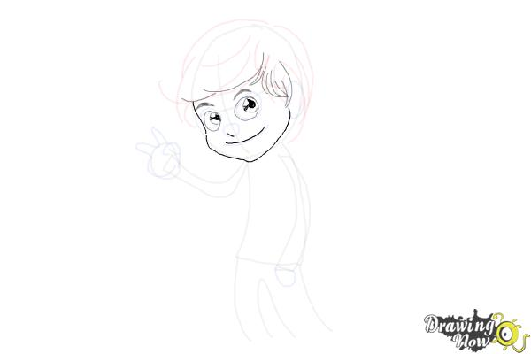 How to Draw Liam Payne Cartoon - Step 6