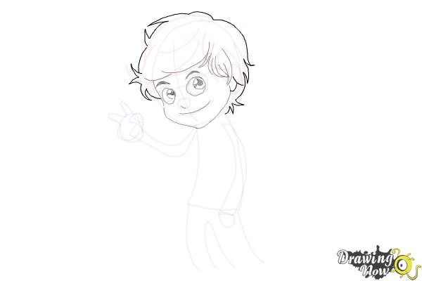 How to Draw Liam Payne Cartoon - Step 7
