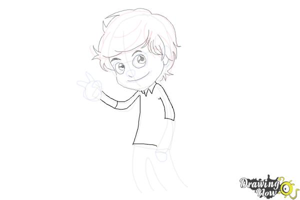 How to Draw Liam Payne Cartoon - Step 8