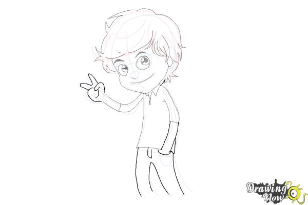How to Draw Liam Payne Cartoon - Step 9