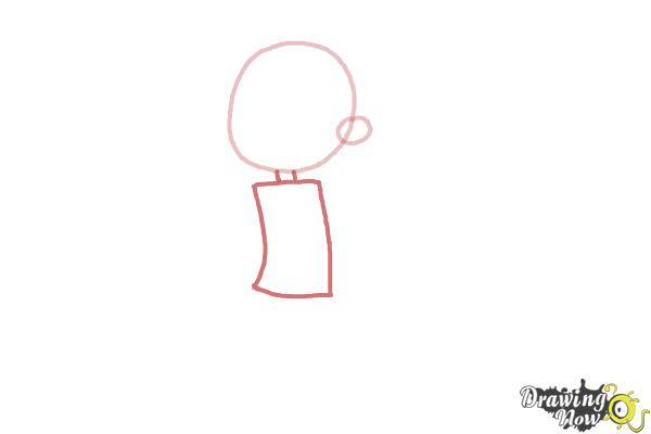 How to Draw a Cartoon Girl - Step 2