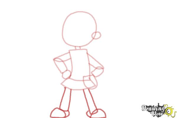 How To Draw A Cartoon Girl Drawingnow