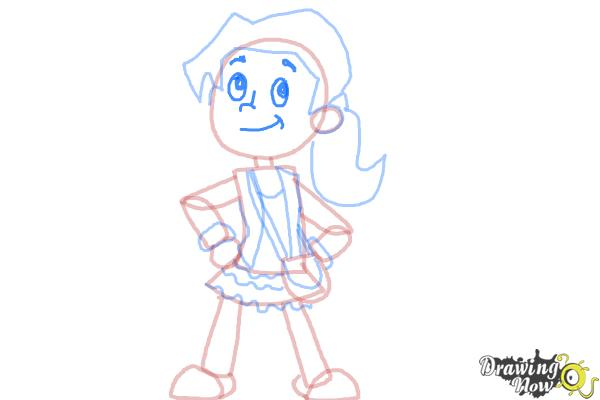 How to Draw a Cartoon Girl - Step 9