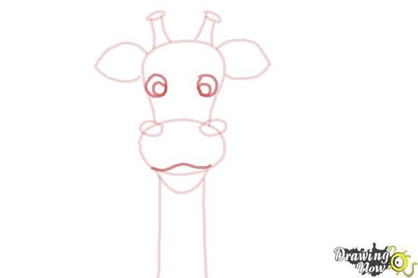 How to Draw a Cartoon Giraffe - Step 6