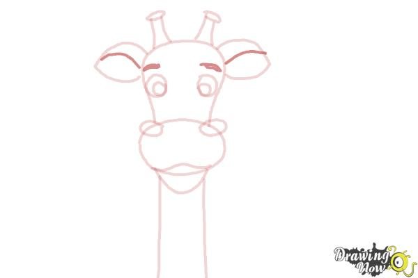 How to Draw a Cartoon Giraffe - Step 7