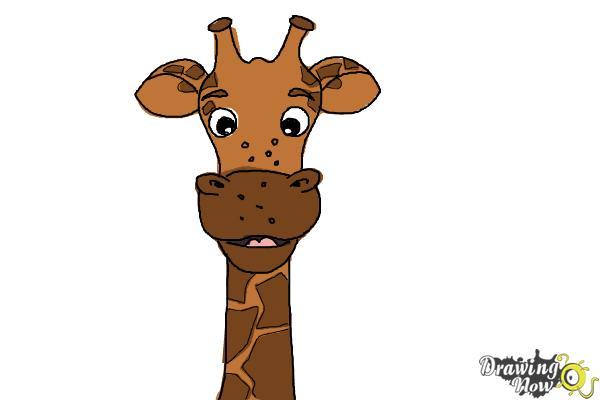 How to Draw a Cartoon Giraffe - Step 9