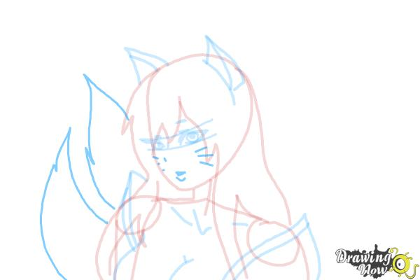 How to Draw Ahri - Step 9
