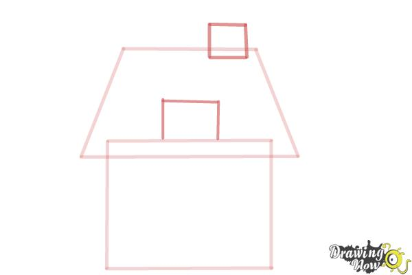 How to Draw a House For Kids - Step 3