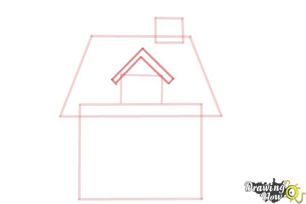 How to Draw a House For Kids - Step 4