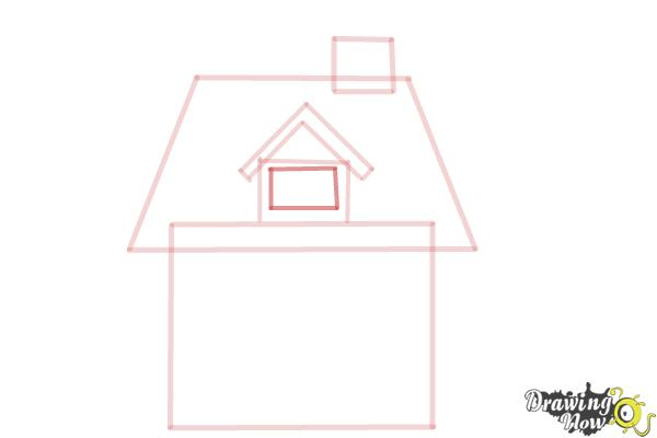 How to Draw a House For Kids - Step 5