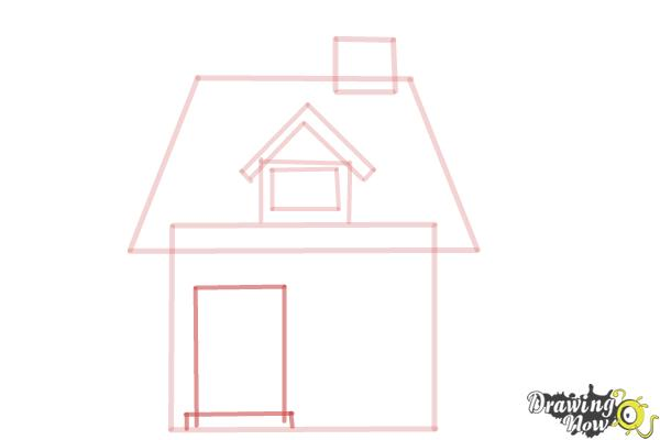 How to Draw a House For Kids - Step 6