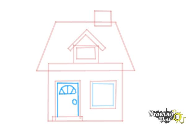 How to Draw a House For Kids - Step 8