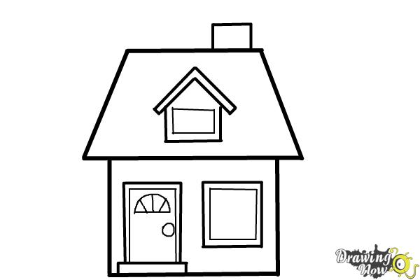 How to Draw a House For Kids - Step 9