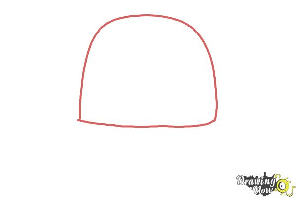How to Draw a Hat - Step 1