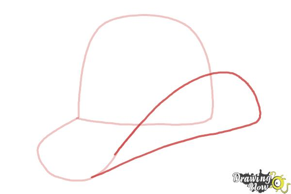 How to Draw a Hat - Step 3