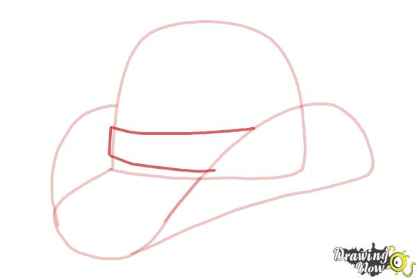How to Draw a Hat - Step 5