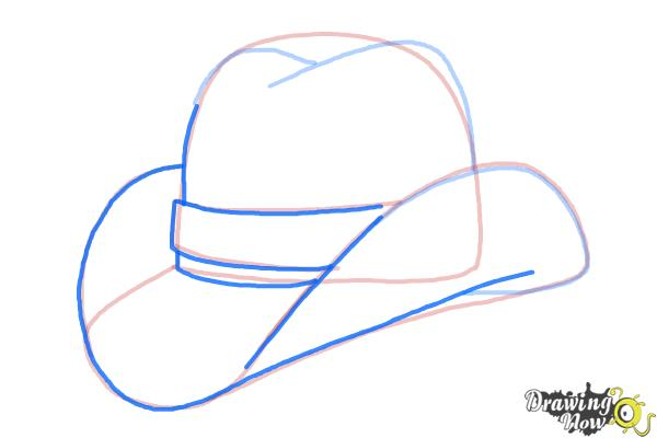 How to Draw a Hat - Step 7
