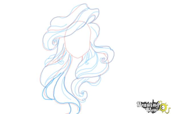 How to Draw Hair - Step 10