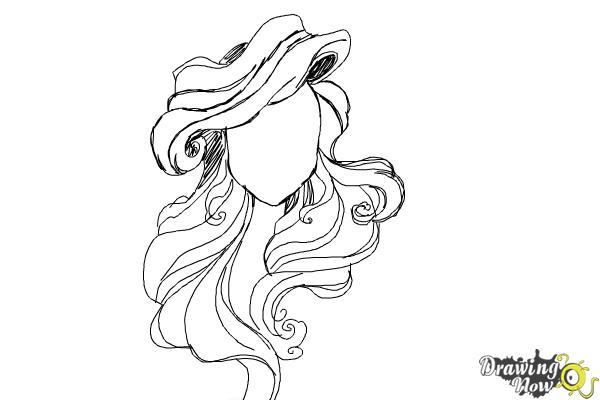 How to Draw Hair - Step 11