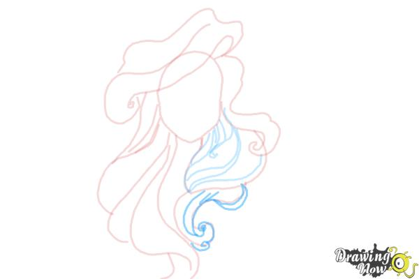 How to Draw Hair - Step 7