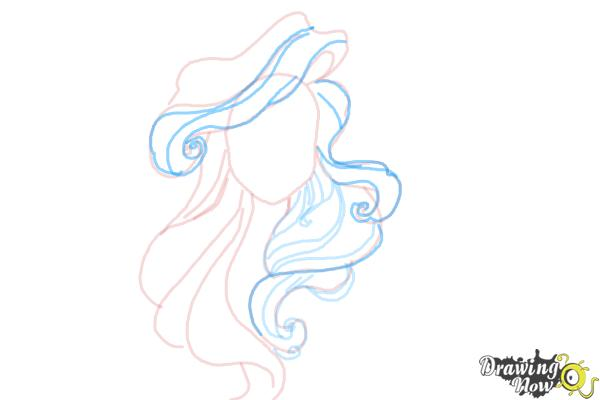 How to Draw Hair - Step 8