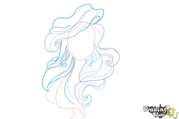 How to Draw Hair - Step 9