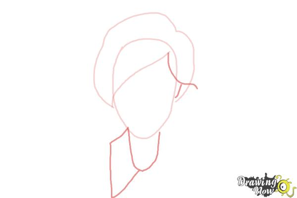 How to Draw a Female Face - Step 3