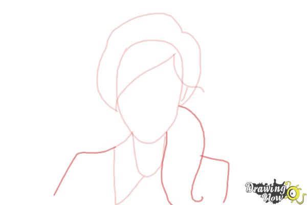 How to Draw a Female Face - Step 4