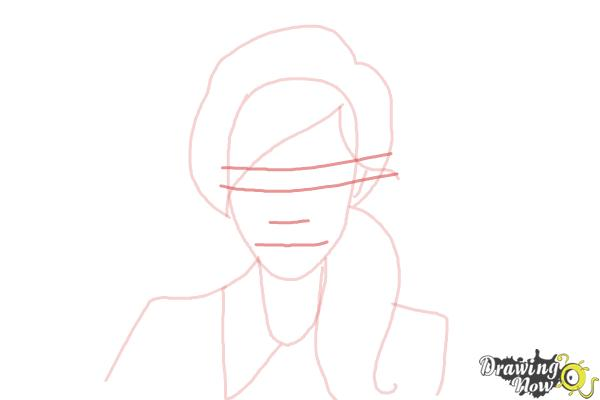 How to Draw a Female Face - Step 5