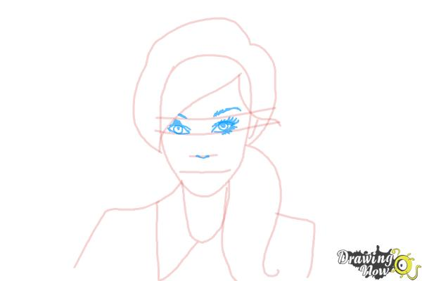 How to Draw a Female Face - Step 6