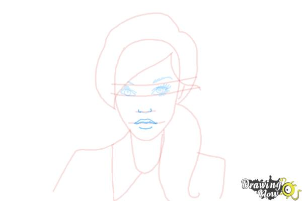 How to Draw a Female Face - Step 7