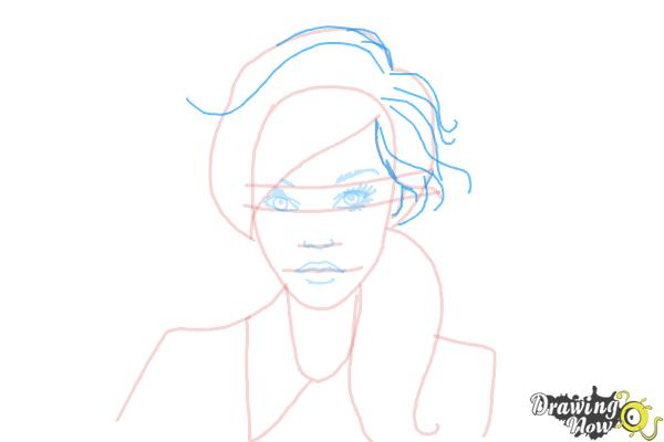 How to Draw a Female Face - Step 8