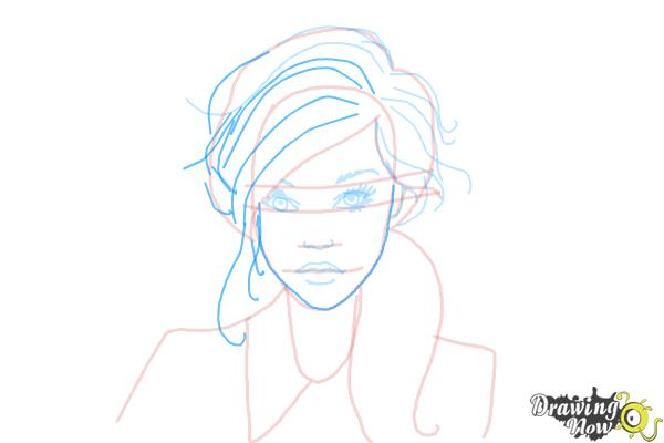 How to Draw a Female Face - Step 9