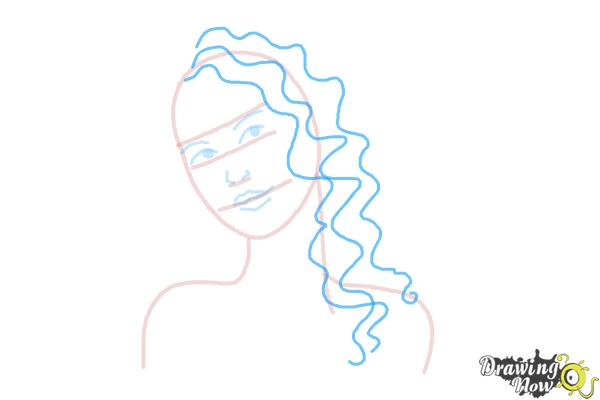 How to Draw Curly Hair - Step 5