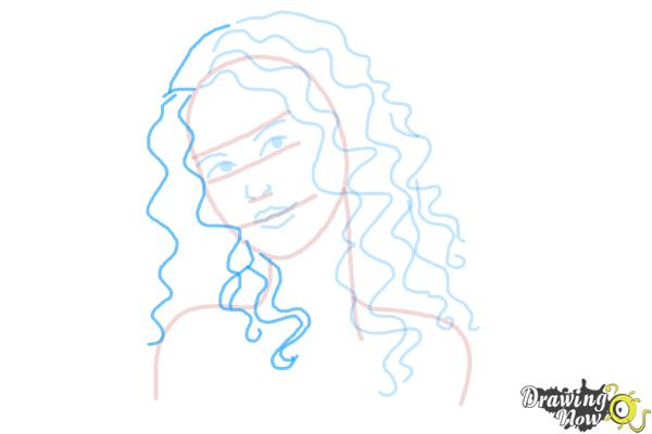 How to Draw Curly Hair - Step 7