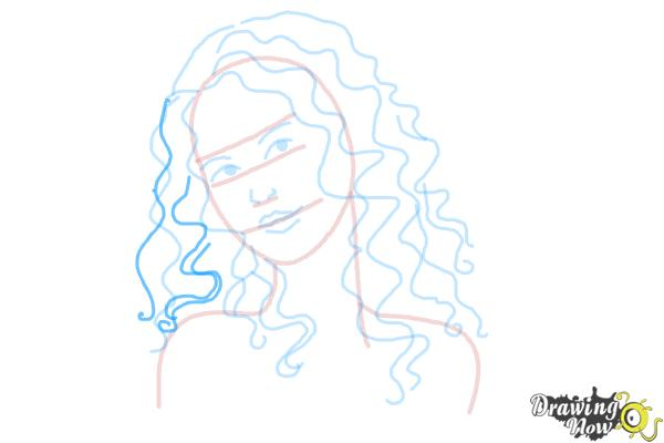 How to Draw Curly Hair - Step 8