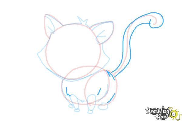 How to Draw a Kitten - Step 10