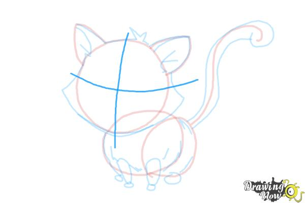 How to Draw a Kitten - Step 11