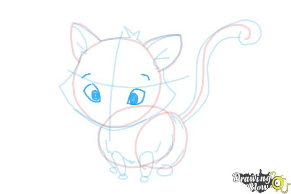 How to Draw a Kitten - Step 12