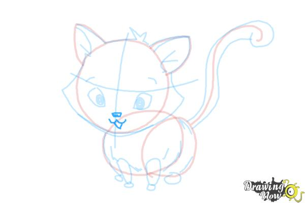 How to Draw a Kitten - Step 13