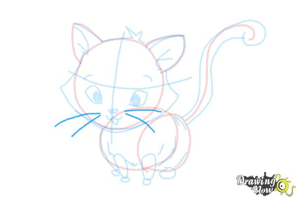 How to Draw a Kitten - Step 14