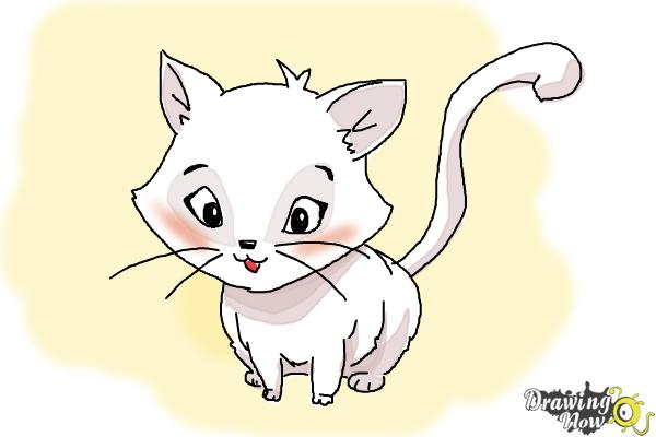 How to Draw a Kitten - Step 16
