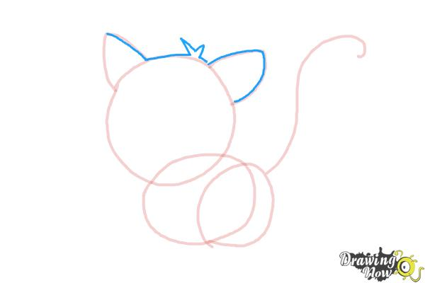 How to Draw a Kitten - Step 5