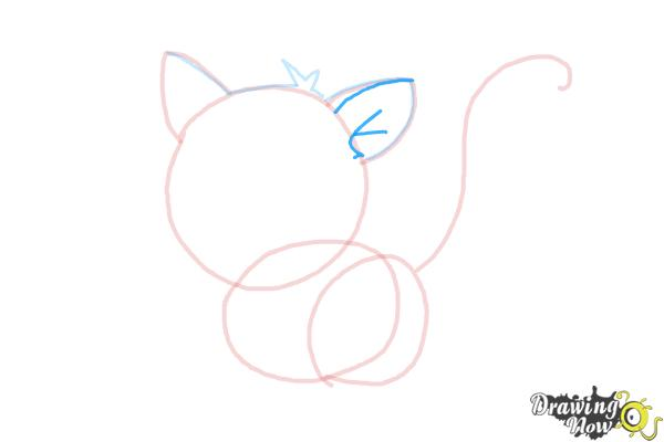 How to Draw a Kitten - Step 6
