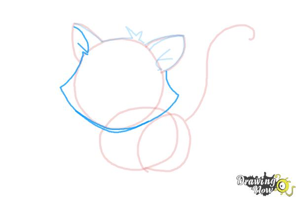 How to Draw a Kitten - Step 7