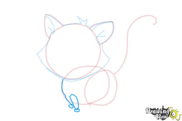 How to Draw a Kitten - Step 8