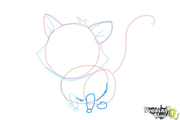 How to Draw a Kitten - Step 9
