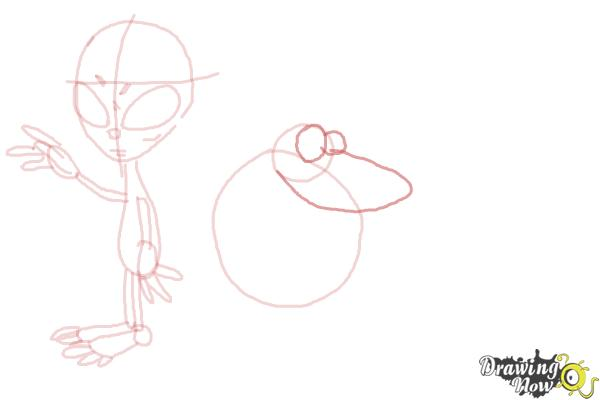 How to Draw Aliens - Step 10